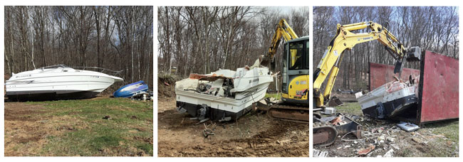 Junk Boat Removal in Bristol MA and surrounding cities